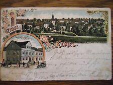 Alte Postkarte aus Kemel (Hessen) mit Briefmarke (1905)
