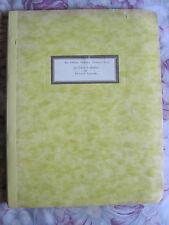 UNPRODUCED SCRIPT WRITTEN BY OSKAR WERNER & ROBERT NATHAN - SO LOVE RETURNS