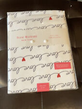 Isaac Mizrahi Valentines Day Table Runner Love Hearts Red White Black