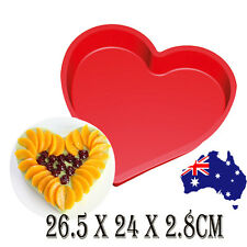 Large Heart Silicone Mold Cake Fondant Chocolate Muffin Tray Baking Mould 26cm