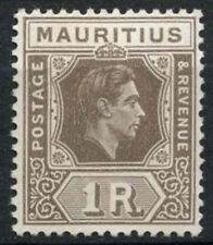 Mauritius 1938-49 SG#260b 1R Grey-Brown KGVI MH Ord. Paper #D22177