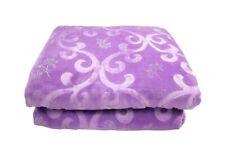 Sprei sprei deken met ornamenten in paars zilver