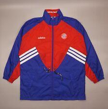 Vintage Adidas Bayern Munich Bench Coat 90s Sports Jacket Training Windbreaker
