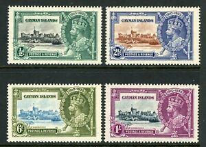 British 1935 KGV Silver Jubilee Cayman Islands Scott #81-84  Mint Non Hinged Y98