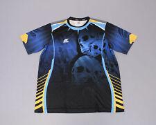 Fixgear Sports Men's Skull Printed Round T-Shirt HD3 Blue Size 3XL
