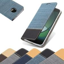 Case for Motorola MOTO Z PLAY Phone Cover Denim Style Protective Wallet Book