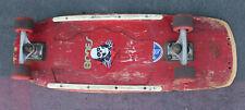 Vintage Sims Skateboard w/ Tracker Trucks Powell 90A Wheels Old School Pig Wide