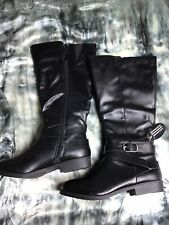 Style & Co Madixe WC Riding Boots Size 6 M Black