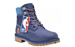 "Timberland 6"" x NBA Knicks New York Dark Blue Nubuck Boots Size 4"