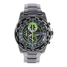 Seiko Criteria SNAC69 P1 Silver Green Dial Men's Chronograph Quartz Watch