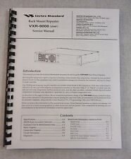 Vertex Vxr-9000 Service Manual - ring bound with protective covers!