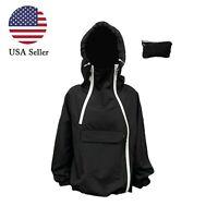 Women's 100% Waterproof Light Outdoor Windbreaker Hooded Jacket Rain Coat USA