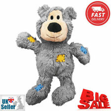 KONG Teddy Bear Wild Knots Knotted Ropes Dogs Toy Pets Plush Cuddly Durable NEW
