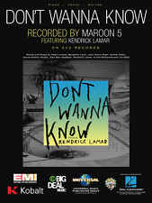 """""""Maroon 5-Don'T Wanna Know"""" Piano/Vocal/Guitar Sheet Music-Brand New On Sale!"""