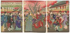 Kunimasa Utagawa IV, Original Japanese Woodblock Print, Courtesan, Yoshiwara