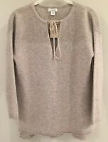 NWT Sundance Catalog 100% Cashmere Gray Kendall Pullover, Size PM $218