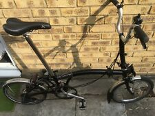 Brompton M3L 2013 Black very good condition. New wheels/brakes. Global shipping.
