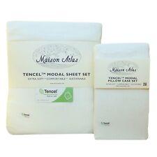 TENCEL MODAL Jersey SHEET SET PILLOWCASE by Maison Atlas | Pure Beech | NEW