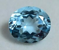 7.30 Ct 100% Natural Blue Topaz Untreated Certified Oval Sparkling Gemstone