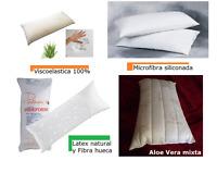 ALMOHADA VISCOELASTICA, LATEX Y FIBRA, VISCOELASTICA COPOS Y FIBRA SILICONADA
