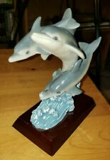 3 Resin Dolphins Jumping from the ocean Figurine
