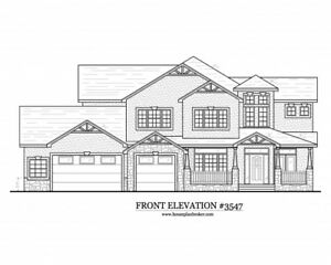 Custom set of architectural Home house design blueprints - 3,547 sq. ft.