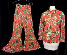 Vintage 70s Jer Marai Disco Palazzo Bell Bottom Psychedelic Lounge Pajama