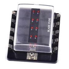 10 fach 32V Sicherungskasten ATO Boot Auto LED Sicherungshalter Sicherungsblock