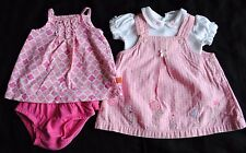 Adorable Infant Baby Girl Lot of 2 Summer Outfits Dress Pink Size 3 Months