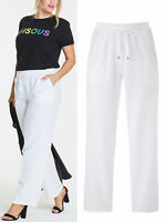 Anthology Ladies Women Linen Blend Easy Care Trousers Size 10 to 30 LTApr29-2