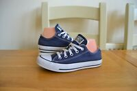 CONVERSE ALL STAR CHUCK TAYLOR LOW TOP NAVY CANVAS SNEAKER TRAINER SHOES UK 4