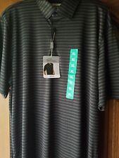 NWT Men's Greg Norman Size XL Black Easy Care Moisture Wick Golf Polo Shirt