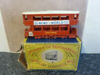 VINTAGE LESNEY MATCHBOX No.3 E CLASS TRAMCAR NEWS OF THE WORLD BOXED