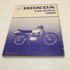 MANUEL REVUE TECHNIQUE D ATELIER HONDA XR 500 1979->  SHOP MANUAL XR500 500XR