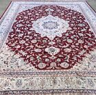 """CHINESE SILK RUG,AN AWESOME CHINESE SILK WITH THE Floral DESIGN 11'8"""" X 9'"""