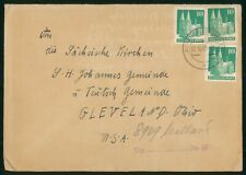 Mayfairstamps Germany 1949 to Cleveland OH Palace Block Cover wwp_93719
