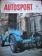 Autosport 10th 1963 de mayo * Targa Florio & Rally canadiense & Bugatti Tipo 35 *
