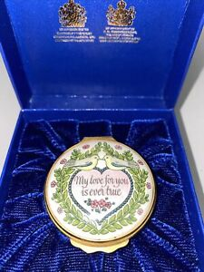 Halcyon Days Enamel Box St Valentines Day 1980 - With Box & Certificate