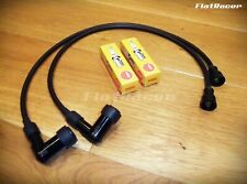 BMW Airhead Boxer (81 on) ignition HT lead set w/ 5k NGK caps & spark plugs