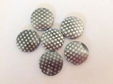 20 Spotted Coin Flat Disc acrylic Plastic beads 21mm Jewellery Making