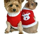 """New Doggie Design XXS 100% Dog cotton """"ugly"""" Christmas Sweater red nose reindeer"""