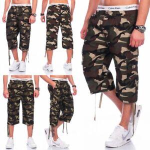 Herren US Army Cargoshorts Camouflage Tarn kurze Hose robust Bermudas Military