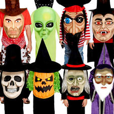 Jumbo Head Halloween Kids Fancy Dress with Scary Giant Face Childrens Costumes