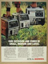 1983 Honda EX800 EM600 EM500 Portable Generators photo vintage print Ad