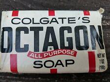 Vintage COLGATE'S OCTAGON All Purpose Soap Bar 7 Oz