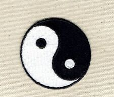 "Large 2"" Yin/Yang Taoism/Martial Arts/Karate Iron on Applique/Embroidered Patch"