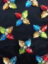 Multi Rhinestone Applique,Motif,edging,trim,sequins,beads  1 X ( 4cm Approx)