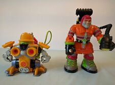 Fisher Price Rescue Heroes Robot Lot of 2 Figures accessories 1999 2004