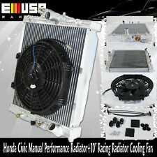 """93-97 Honda Civic Del Sol 92-00 Honda Civic+10"""" Racing Radiator Cooling Fan"""