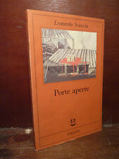 Romanzo Narrativa Letteratura, Leonardo Sciascia: Porte Aperte 1993 Adelphi